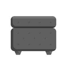 Padded stool icon black monochrome style vector image