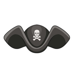 piracy hat icon cartoon style vector image
