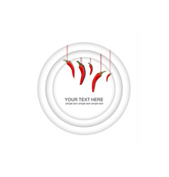 3d rendering white background with red peppers vector