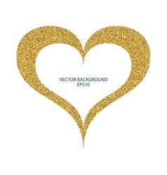 a heart gold vector image vector image