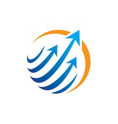 abstract circle arrow technology logo vector image