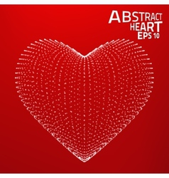 Abstract heart background Lines point vector image