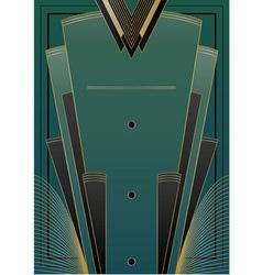 Fans Art Deco Background vector image vector image