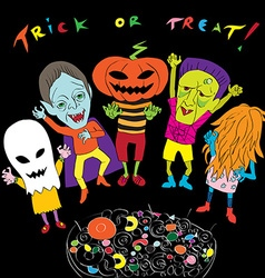 trick or treat composition vector image vector image