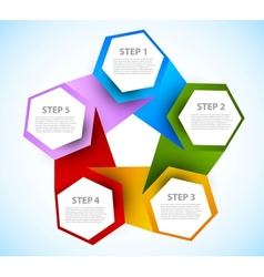 Abstract diagram with hexagons vector image vector image
