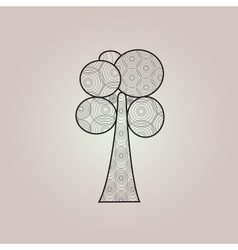 Abstract Ring Tree vector image