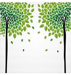 Cute concept trees vector image