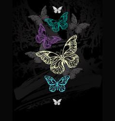flock of pastel butterflies vector image vector image