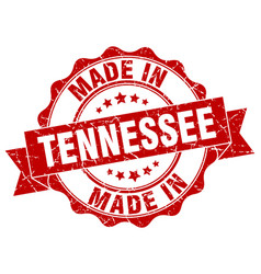 made in tennessee round seal vector image vector image