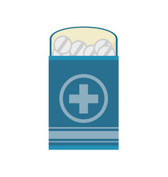 pack medicine pill icon vector image vector image