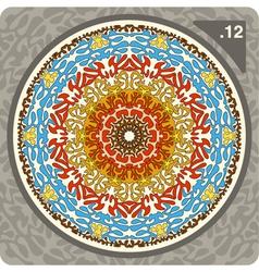 abstract circular decorative ornament vector image vector image