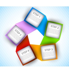 Abstract diagram vector image vector image