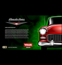 digital red old classic car close vector image
