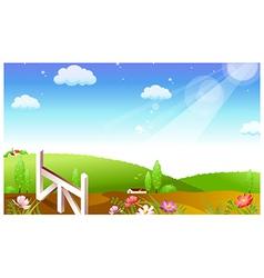 Farmland landscape background vector image