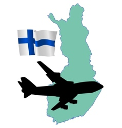 fly me to the Finland vector image
