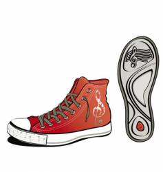 music shoe vector image vector image