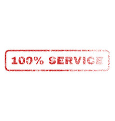 100 percent service rubber stamp vector
