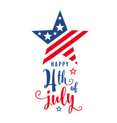 4th of july celebration holiday banner star shape vector