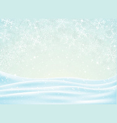 abstract of christmas background with snowflakes vector image
