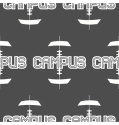American football campus seamless pattern in vector image