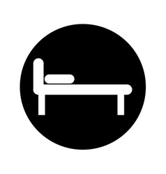 bed silhouette isolated icon vector image vector image