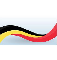 Belgium waving national flag modern unusual shape vector