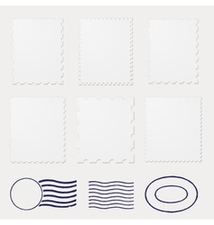 blank stamps frames vector image