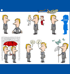 Business concept cartoons set vector