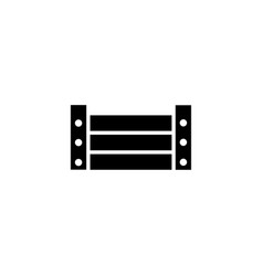 Cargo wood pallet box flat icon vector