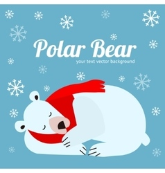 Cartoon Cute Polar Bear Animal Banner Card vector