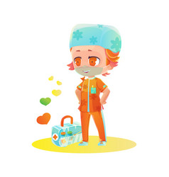 Cartoon male nurse character vector