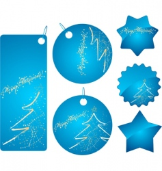 Christmas shopping badges vector image