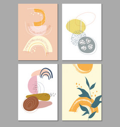 collection contemporary art posters art print vector image