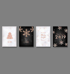 collection of elegant merry christmas cards vector image