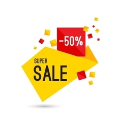 Colorful advertising super sale banner vector image