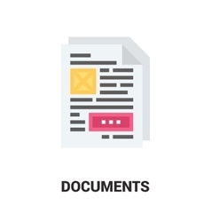 Documents icon concept vector