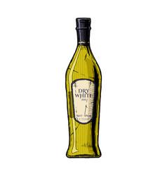 Dry white wine vector
