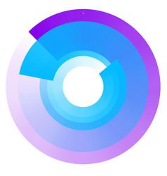 Fading concentric circles geometric circular vector