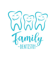 Family dentistry concept vector