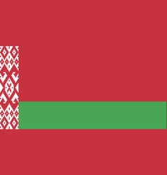 flag of belarus in official proportions and colors vector image