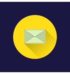 Flat envelope icon vector image