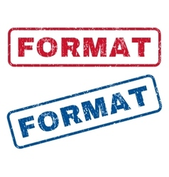 Format Rubber Stamps vector