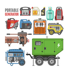 Generator power generating portable diesel vector