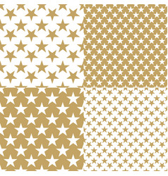 Gold stars background vector