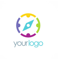 Group compass logo vector