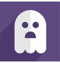 Halloween ghost flat icon badge vector image vector image