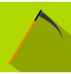 Halloween scythe flat icon vector