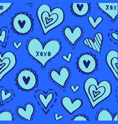 hearts pattern love new-14 vector image