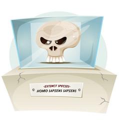 homo sapiens extinct species vector image