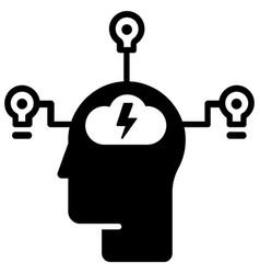 Innovative mind solid vector